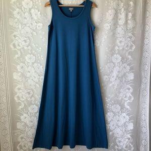 J Jill Pima Cotton Modal Blue Stretch Maxi Dress M